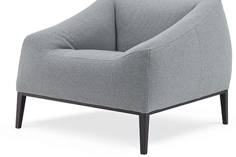 The Carmel sofa has a voluptuous form that looks more like a cushion than a traditional chair.
