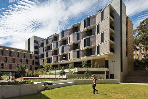 UNSW Kensington Colleges by Bates Smart, the 2014 Horbury Hunt Commercial Award winner and Grand Prix winner. Image: Peter Bennetts.