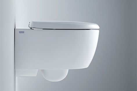 This wall-hung toilet pan is part of Keramag's new 4U range.
