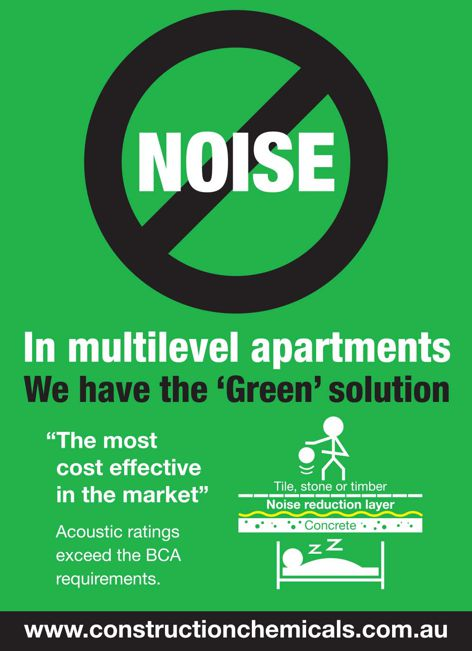 Noise reduction from Construction Chemicals