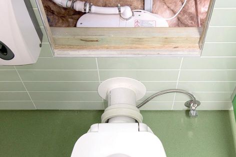 The Saniaccess 2 allows for the drainage of toilet waste water.