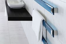 Blue Lava and vega towel rails