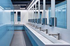 Washplanes for public bathrooms