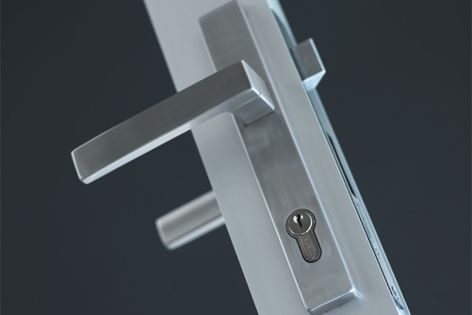 A timeless stainless steel finish makes Icon door hardware ideal for contemporary homes.
