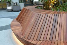 Bespoke outdoor seating by Mos Urban