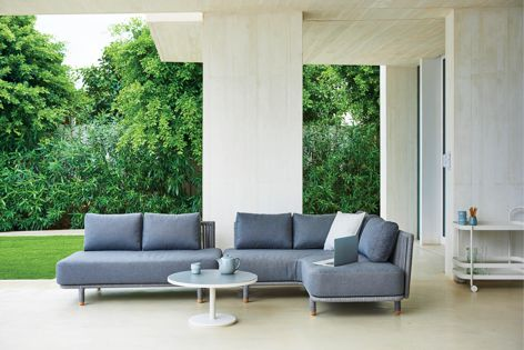 The Moments modular lounge system by Cane-line can be arranged in a wide variety of configurations.