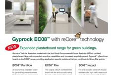 Gyprock EC08 plasterboard with ReCore technology