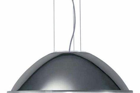 Pressed glass and chrome come together in the Iscelle pendant light.