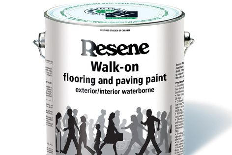 Resene Walk-on paint offers maximum durability and abrasion resistance in a single-pack finish.
