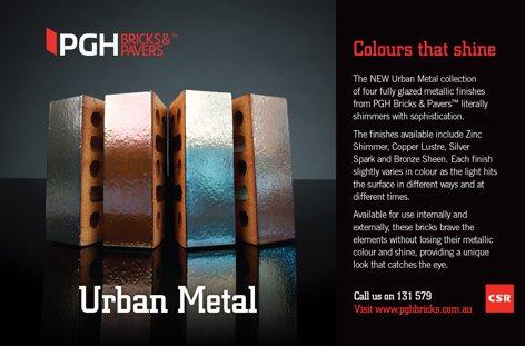 Urban Metal bricks from CSR PGH Bricks and Pavers