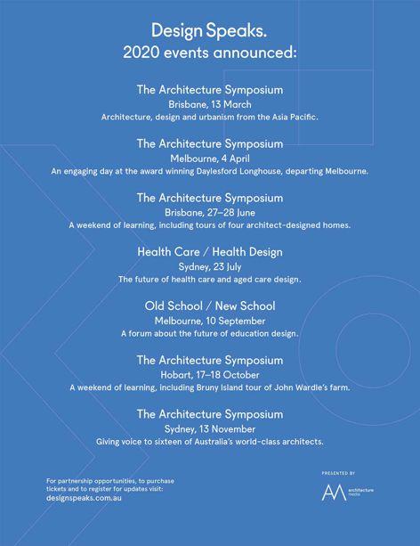 Design Speaks events