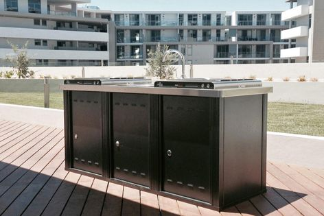 Christie Parksafe barbecues have been installed at the Genesis Apartments in Sydney.