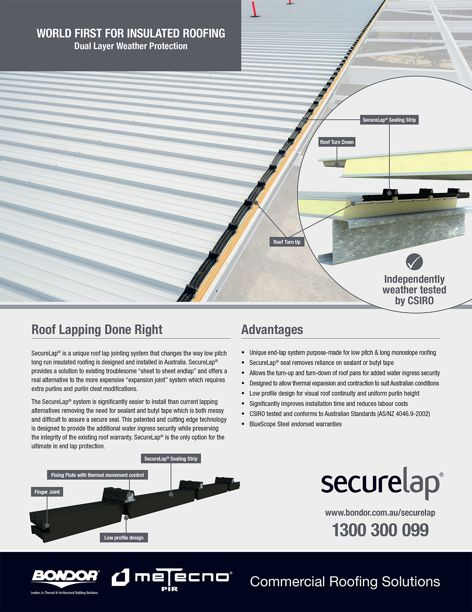 SecureLap roof lapping by Bondor