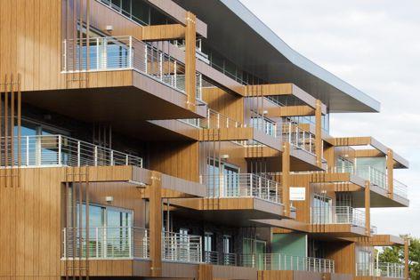 Trespa Meteon Wood Decors provide design flexibility and excellent weather resistance.
