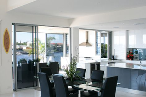 The Trend range includes aluminium sliding, stacker, hinged and bifold doors and windows.