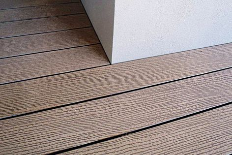 CleverDeck is available in Saltbush (pictured), Mahogany, Chocolate, Walnut and Slate Grey.