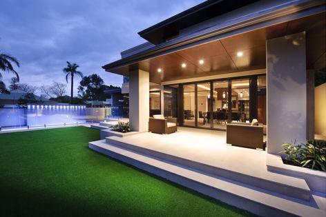 A beautiful house featuring Ariaply panels, which are durable, stylish and come ready to install.