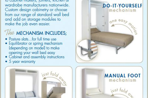 Wall bed mechanism by Pardo