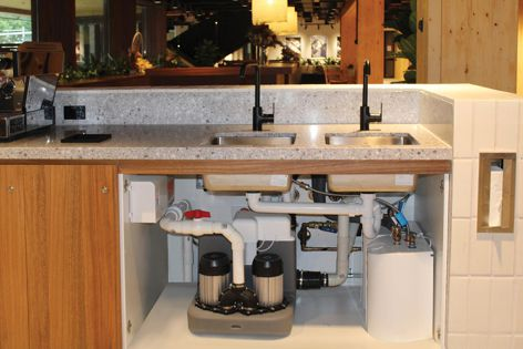 The Sanicom 2 pump can be installed without any drilling.