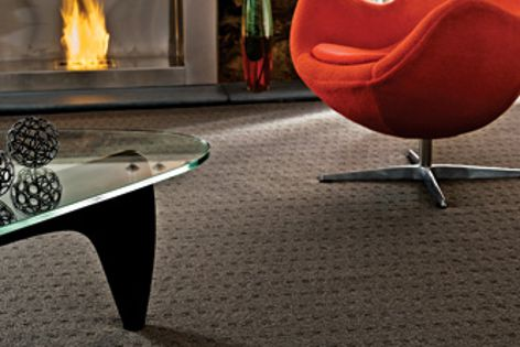 VOC-free Zenith carpet has a heavy-duty 34 oz pile and is available in eight contemporary colours.