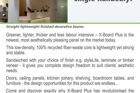 Designer beams that you can lift single-handedly!