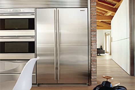 The Sub-Zero reconfigured Built in Side by Side Refrigerator/Freeze has improved energy efficiency.