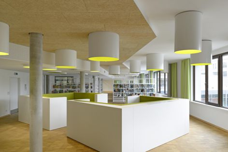 Using natural materials, Troldtekt ceiling tiles and wall panels provide an environmentally friendly acoustic management option.