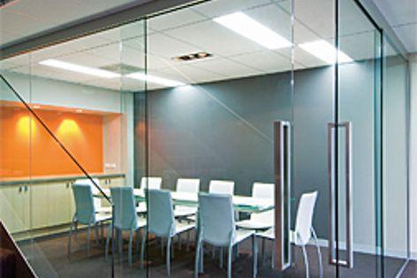 Glass sliding doors by Hafele