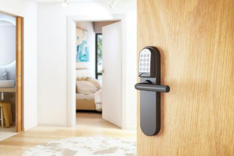 The Salto XS4 ANSI electronic lock with keypad is designed to be compatible with most ANSI mortise locks and tubular latches.