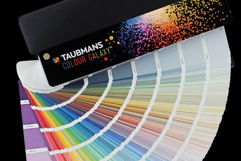 The new Taubmans Colour Galaxy Fandeck displays generous colour swatches, featuring some old favourites plus new directional shades and colours.