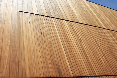 Expression Cladding in blackbutt has been used on the facade of the Dandenong Mental Health project.