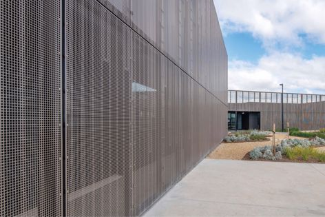 Locker's PicPerf facade at AGT in Rosewood, South Australia. Architect: Ashley Halliday Architecture Interiors.