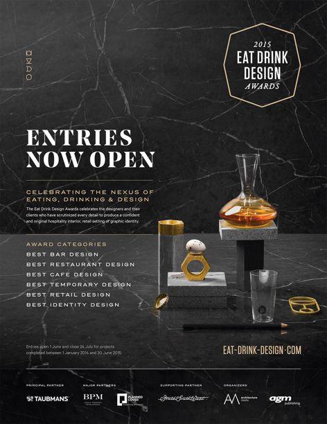 Eat Drink Design Awards entries open