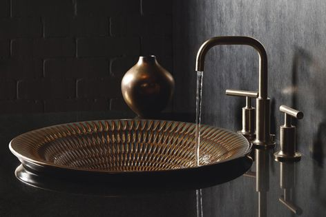 The handmade process and natural glaze variations make each basin in the Artist Editions collection unique.