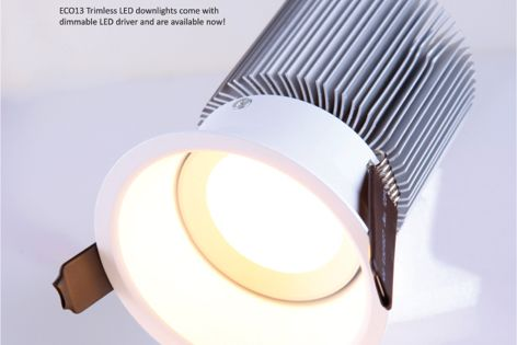 Trimless LED downlight by Superlight