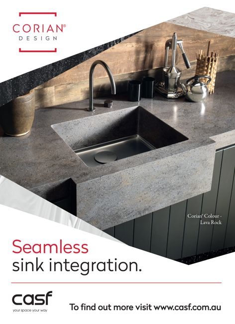 Corian sink integration by CASF