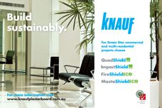 Sustainable plasterboard by Knauf