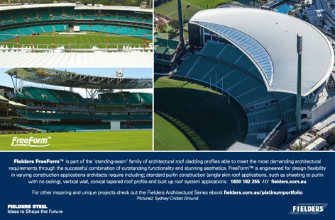 FreeForm roof cladding from Fielders