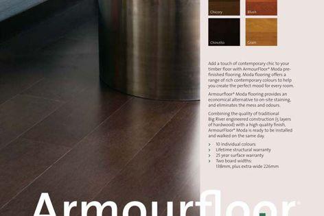 Armourfloor Moda pre-stained flooring